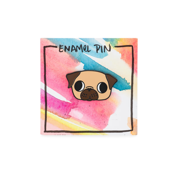 Paper & Pixel Co. Fawn Pug Pin - The Black Pug