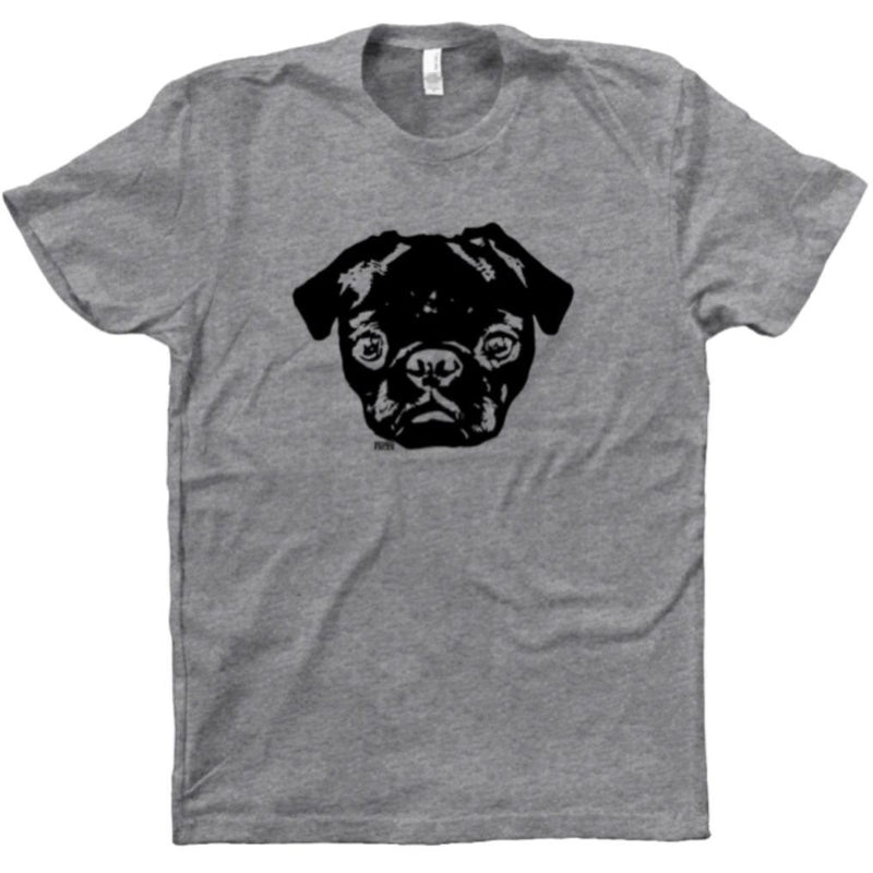 MONOFACES  Adult Short Sleeve Tee - The Black Pug