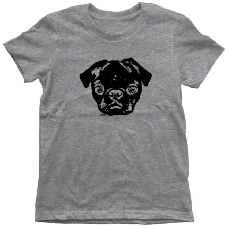 MONOFACES Kids Short Sleeve Tee - The Black Pug