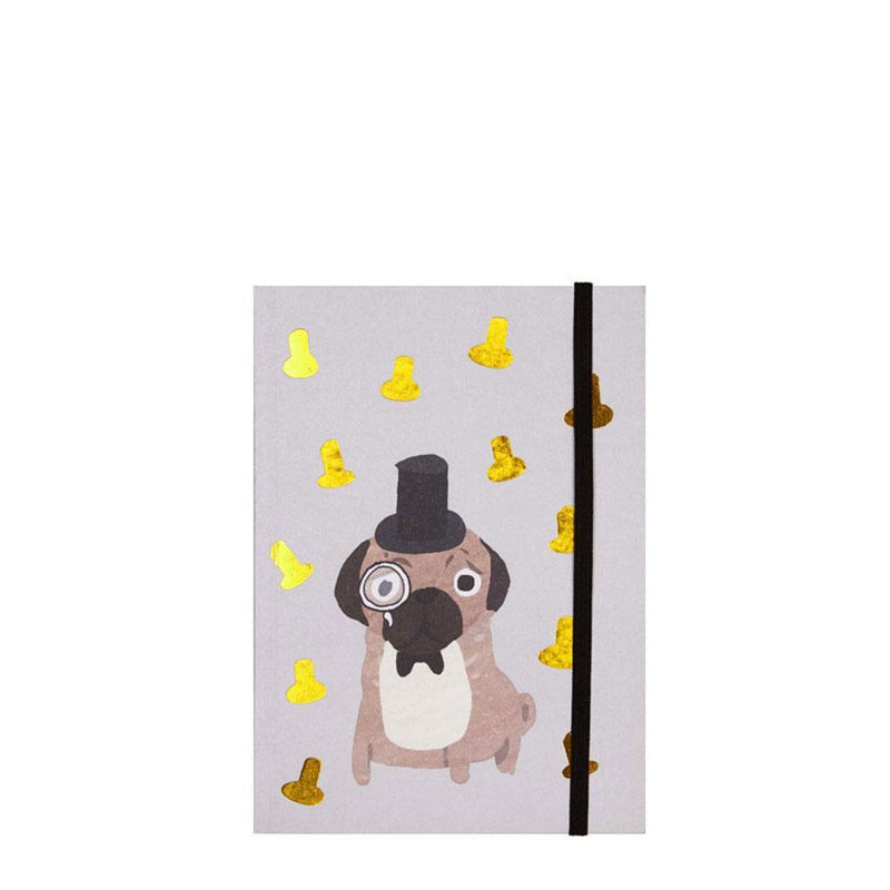 Fenella Smith Pug Notebook - The Black Pug