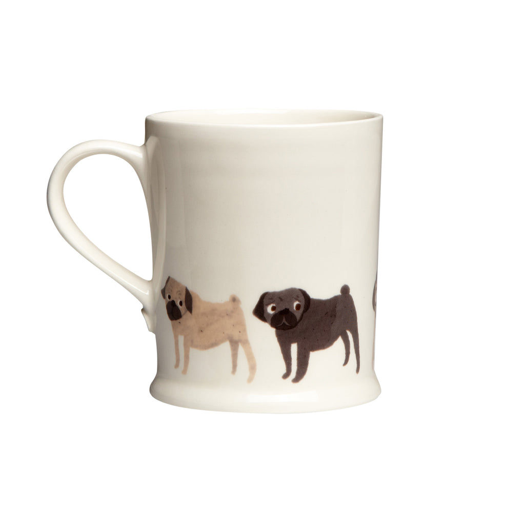 Fenella Smith Pug Mug - The Black Pug