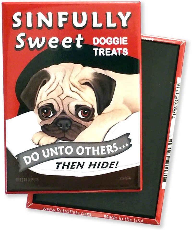 Retro Pets Magnet -Sinfully Sweet - The Black Pug