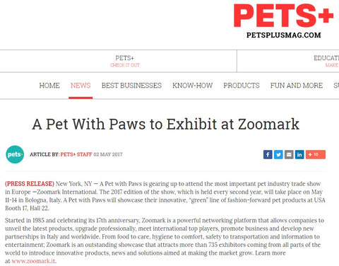 Pet Plus Magazine A Pet With Paws Zoomark