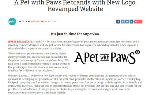 "Pets + Magazine / Bulletins: ""A Pet with Paws Rebrands with New Logo, Revamped Website"""