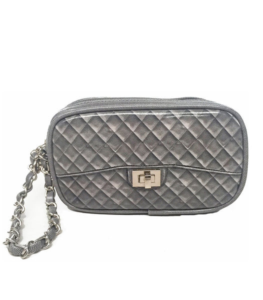grey Zuzu Poop Bag Wristlet