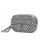 Grey Poop Bag Pouch Wristlet - side view