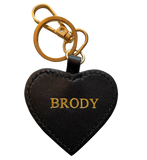 Custom Pet Keychain: Heart Shaped (w/Gold Embossed Name)