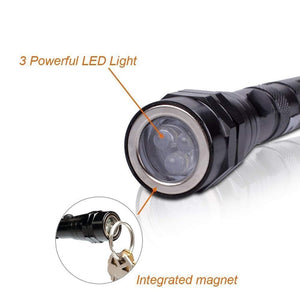 90 Lumens Telescopic Led Flashlight with Magnetic -  Assorted Colors