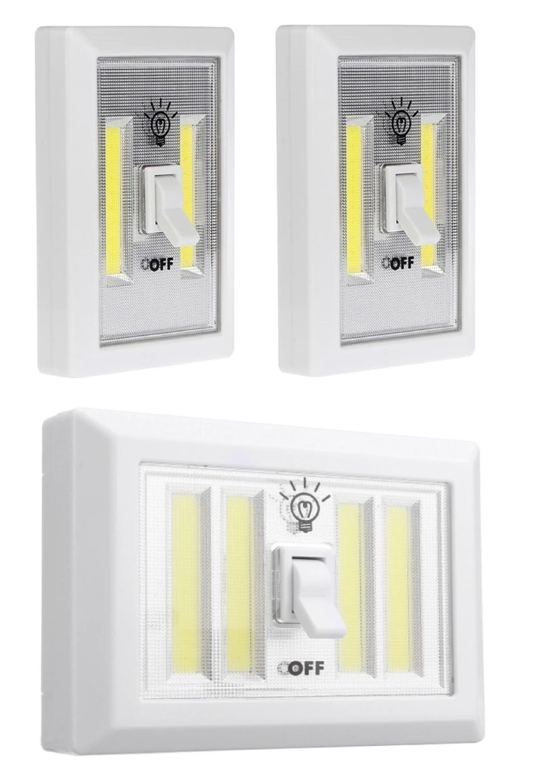 Multi-Purpose COB LED Light-Switch - 3 Pack