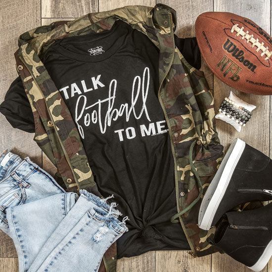 talk football to me tee for women