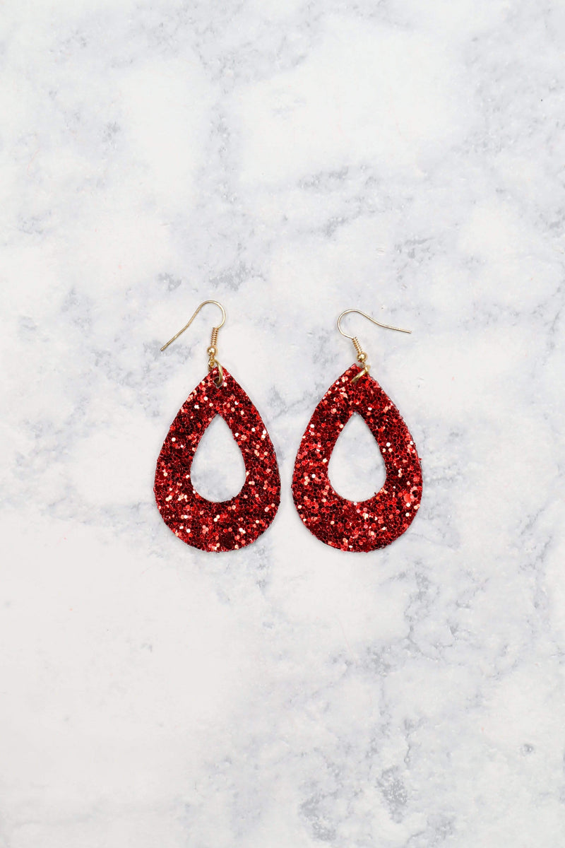 Glitzy Girlz Boutique 9 To 5 Earrings, Red