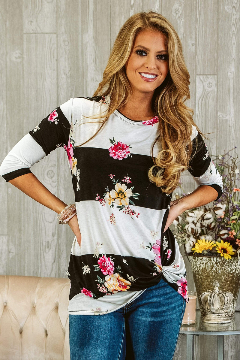 Glitzy Girlz Boutique A Place For Us Top, Black