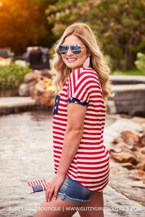 Glitzy Girlz Boutique All American Girl Tunic