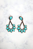 Glitzy Girlz Boutique All Loaded Up Earrings, Bronze/Turquoise