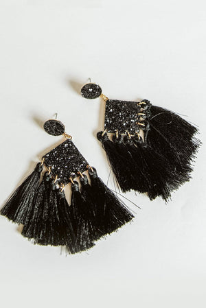 Glitzy Girlz Boutique All That Glitters Earrings, Black