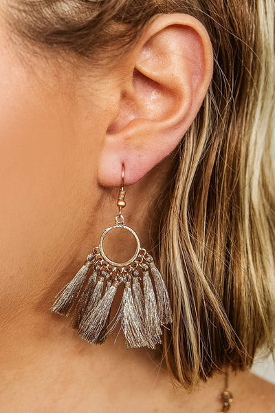Glitzy Girlz Boutique All The Ladies Earrings, Taupe