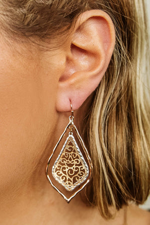 Glitzy Girlz Boutique All The Shine Earrings, Rose Gold