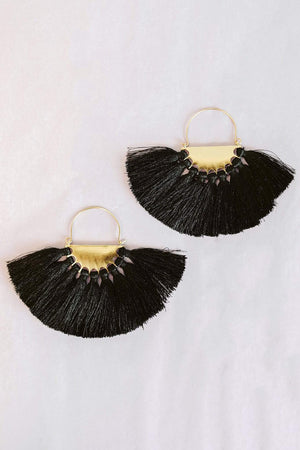 Glitzy Girlz Boutique All To Myself Earrings, Black
