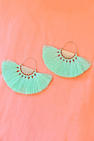 Glitzy Girlz Boutique All To Myself Earrings, Green