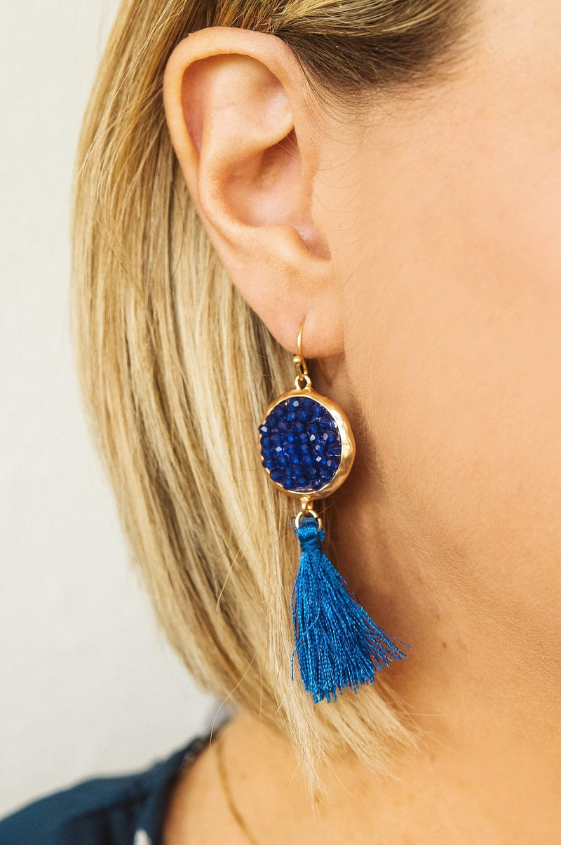 Glitzy Girlz Boutique Audrey Earrings, Royal