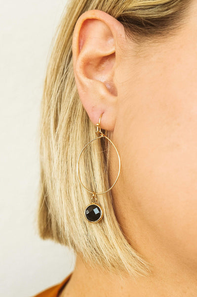Glitzy Girlz Boutique Birmingham Earrings, Black