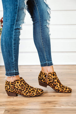 Glitzy Girlz Boutique Bradee Booties, Leopard