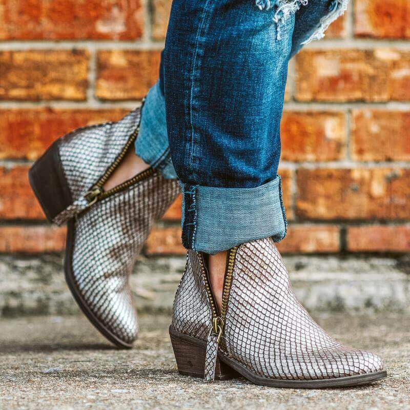Glitzy Girlz Boutique Cassidy Bootie, Taupe