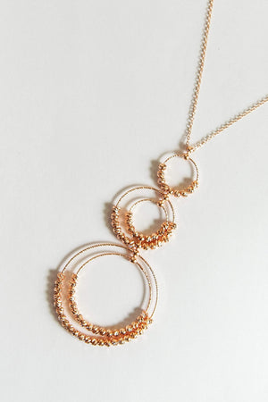 Glitzy Girlz Boutique Circle Of Love Necklace, Rose Gold