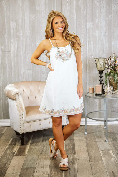 Glitzy Girlz Boutique Close Your Eyes Dress, Ivory