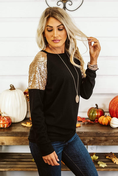 Glitzy Girlz Boutique Committed Top, Black
