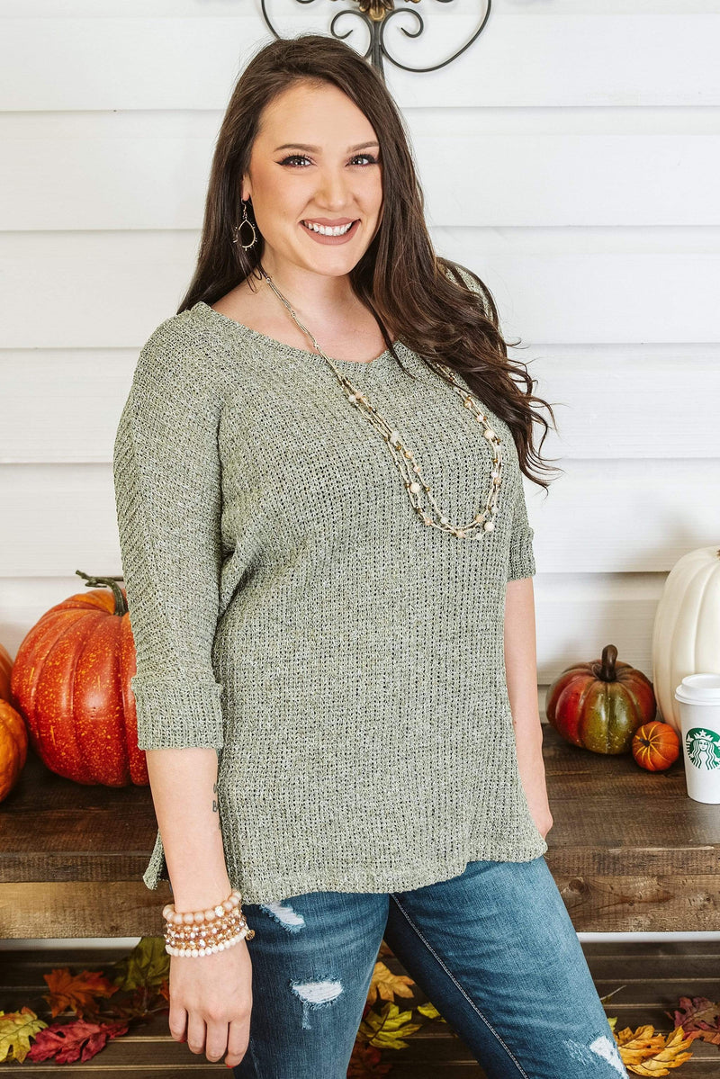 Glitzy Girlz Boutique Cool Wishes Top, Olive