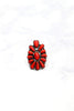 Glitzy Girlz Boutique Cross My Heart Ring, Red/Bronze