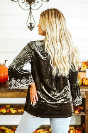 Glitzy Girlz Boutique Crushin' Into Fall Top, Olive