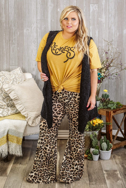 Glitzy Girlz Boutique Curvy Bombshell In Training Pants, Leopard