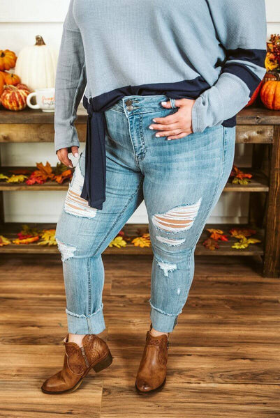 Glitzy Girlz Boutique Curvy Charlene Denim Jean