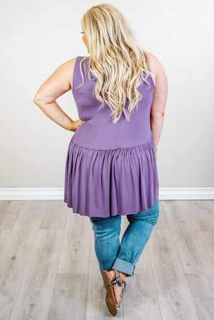 Glitzy Girlz Boutique Curvy Essentially Yours Top, Lilac