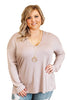 Glitzy Girlz Boutique Curvy Every Day Essential Top, Dusty Lilac