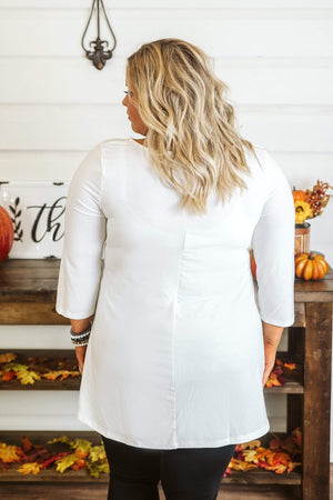 Glitzy Girlz Boutique Curvy Might Be So Tunic, Ivory