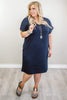 Glitzy Girlz Boutique Curvy My Latest Love Dress, Navy
