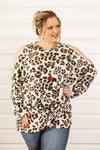 Glitzy Girlz Boutique Curvy Off She Goes Top, Leopard