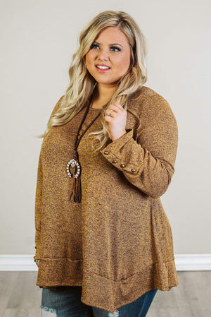Glitzy Girlz Boutique Curvy See It All Top, Mustard