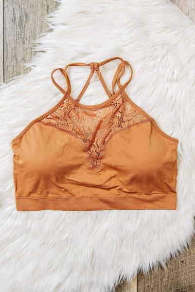 Glitzy Girlz Boutique Curvy Something Extra Bralette, Apricot