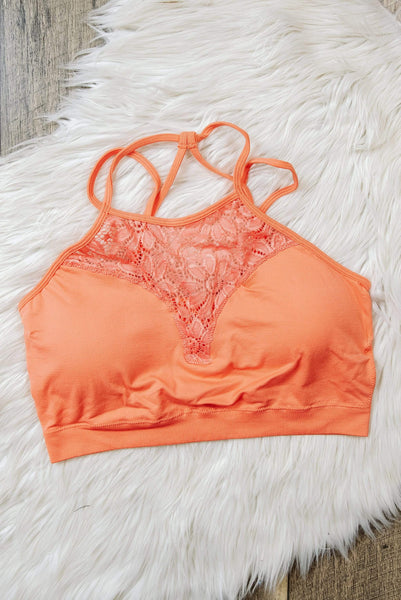 Glitzy Girlz Boutique Curvy Something Extra Bralette, Coral