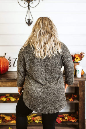Glitzy Girlz Boutique Curvy True To The Core Sweater Top, Oatmeal