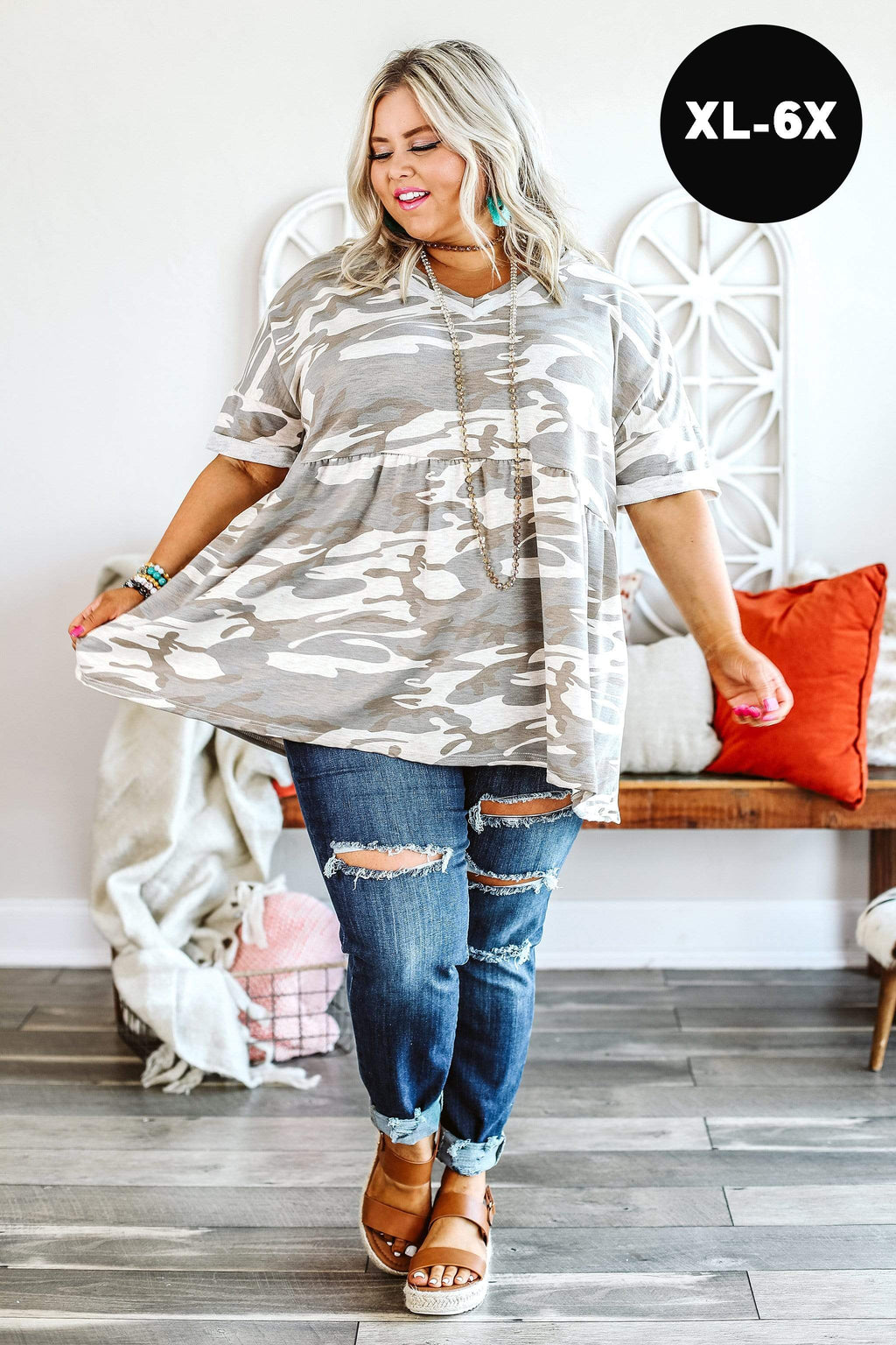 Glitzy Girlz Boutique Curvy Zero Regret Top | Trendy Plus Size Top