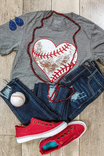 Glitzy Girlz Boutique Dirty Heart Baseball Graphic Tee