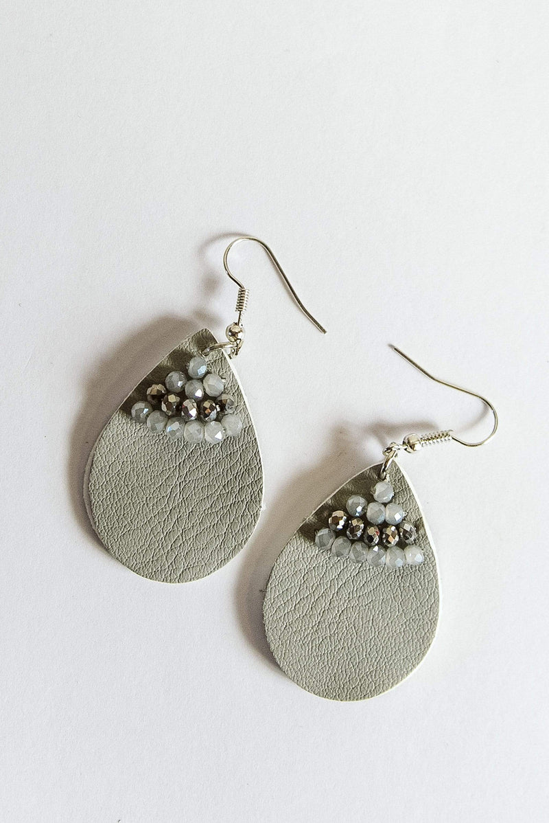 Glitzy Girlz Boutique Drops Of Sweetness Earrings, Grey