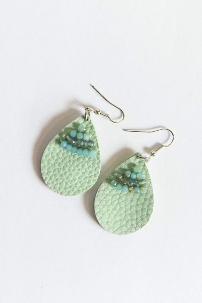 Glitzy Girlz Boutique Drops Of Sweetness Earrings, Turquoise