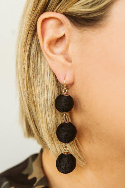 Glitzy Girlz Boutique East Coast Earrings, Black
