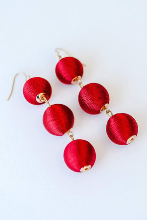 Glitzy Girlz Boutique East Coast Earrings, Red